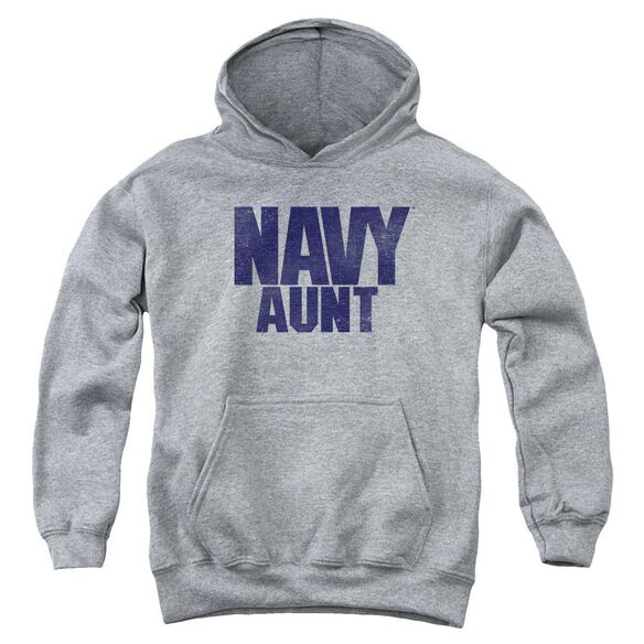 Navy Aunt Youth Pull Over Hoodie