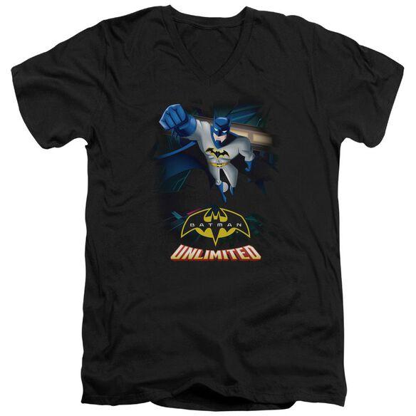 Batman Unlimited Descent Short Sleeve Adult V Neck T-Shirt