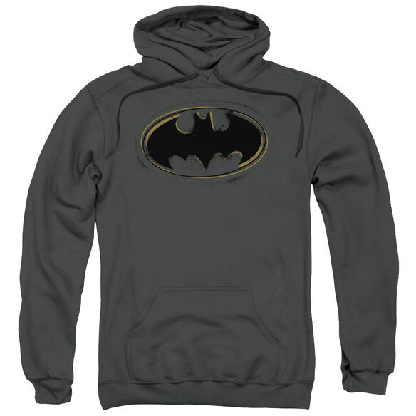 Batman Spray Paint Logo Adult Pull Over Hoodie