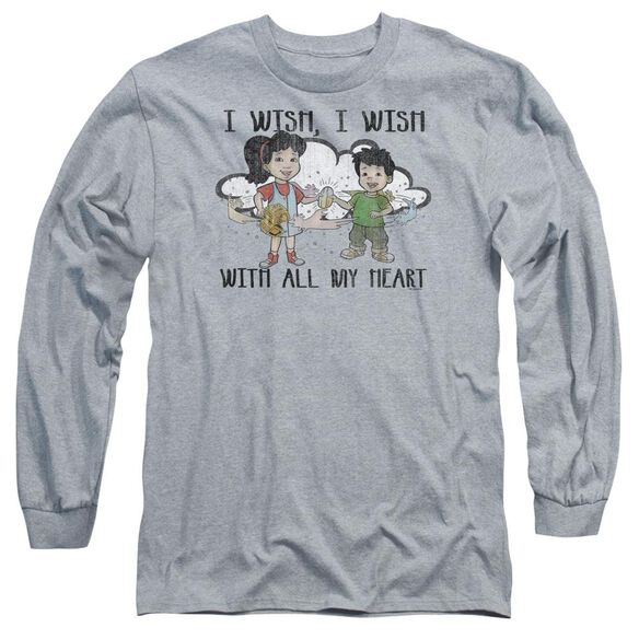 Dragon Tales I Wish With All My Heart Long Sleeve Adult Athletic T-Shirt