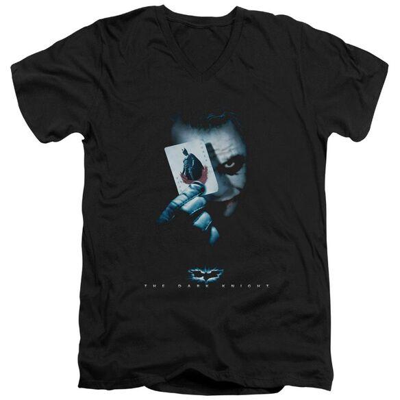 Dark Knight Joker Short Sleeve Adult V Neck T-Shirt