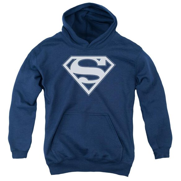 Superman & White Shield Youth Pull Over Hoodie