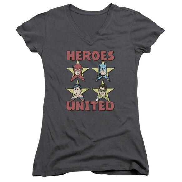Jla United Stars Junior V Neck T-Shirt