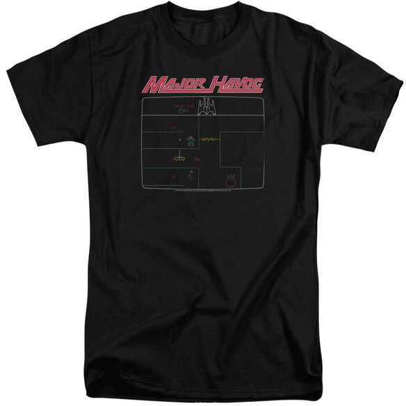 Atari Major Havoc Screen Short Sleeve Adult Tall T-Shirt