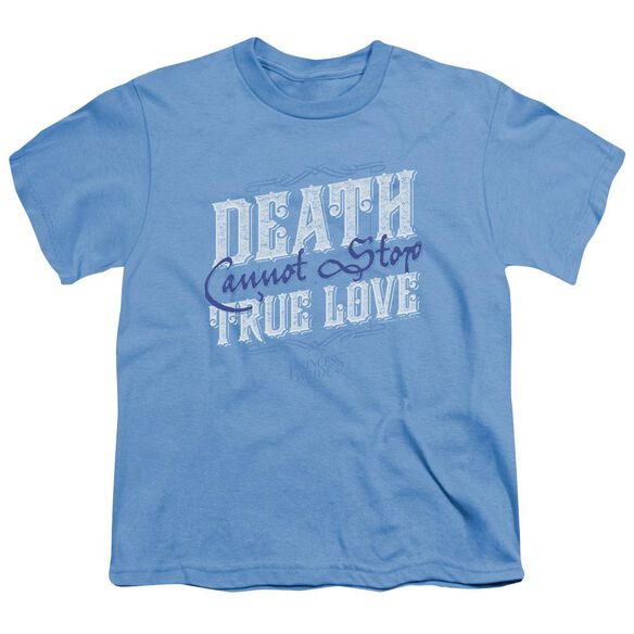 Princess Bride Love Over Death Short Sleeve Youth Carolina T-Shirt