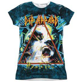 Def Leppard Hysteria Short Sleeve Junior Poly Crew T-Shirt