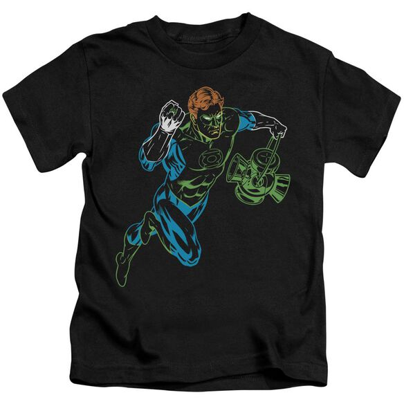 Gl Neon Lantern Short Sleeve Juvenile Black T-Shirt
