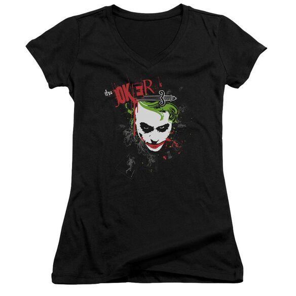 Dark Knight Cards & Deck Junior V Neck T-Shirt