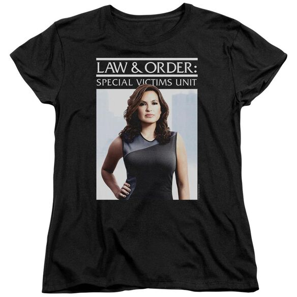 Law And Order Svu Behind Closed Doors Short Sleeve Womens Tee T-Shirt