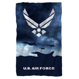 Air Force Take Off Fleece Blanket