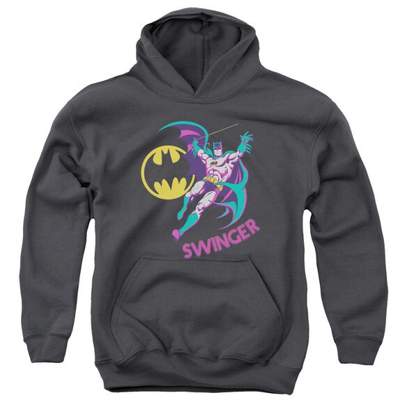 Dco Swinger-youth Pull-over Hoodie - Charcoal