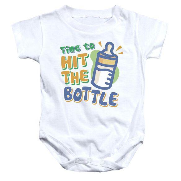 Hit The Bottle Infant Snapsuit White Lg