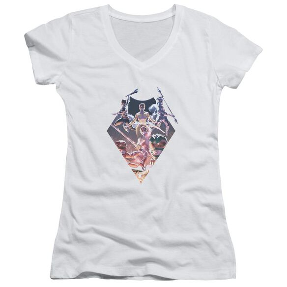 Power Rangers Sdcc Ranger Diamond Junior V Neck T-Shirt