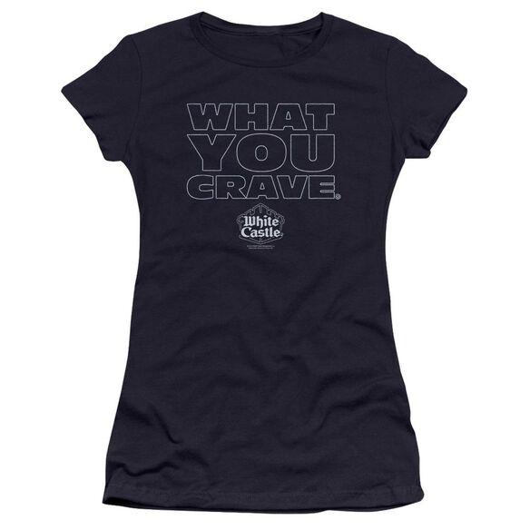 White Castle Craving Premium Bella Junior Sheer Jersey