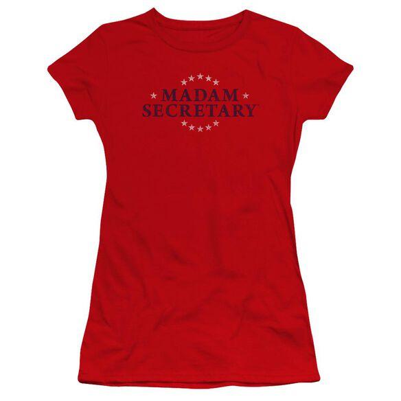 Madam Secretary Distress Logo Premium Bella Junior Sheer Jersey