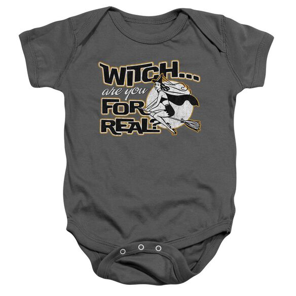 For Real Infant Snapsuit Charcoal