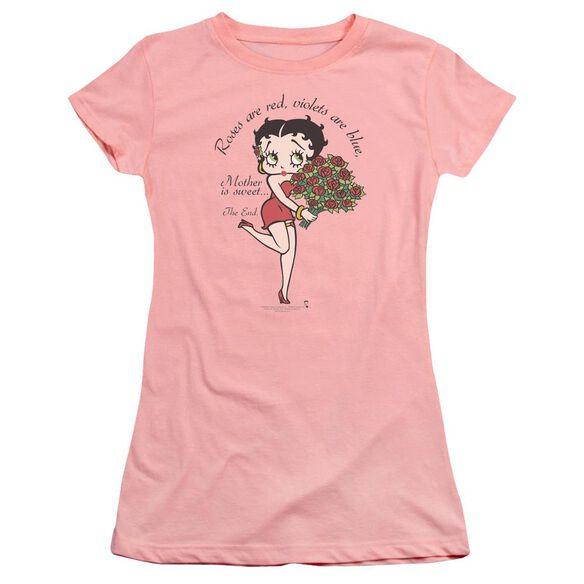 Betty Boop Mother Is Sweet Premium Bella Junior Sheer Jersey