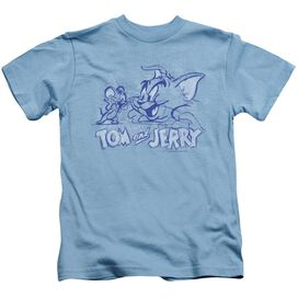 Tom And Jerry Sketchy Short Sleeve Juvenile Carolina T-Shirt