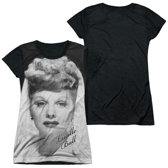 Lucille Ball Glamourous Short Sleeve Junior Poly Black Back T-Shirt