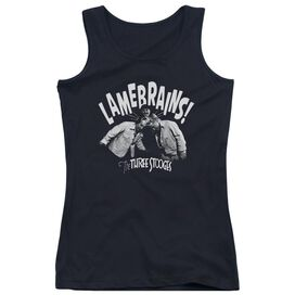 Three Stooges Lamebrains - Juniors Tank Top - Black