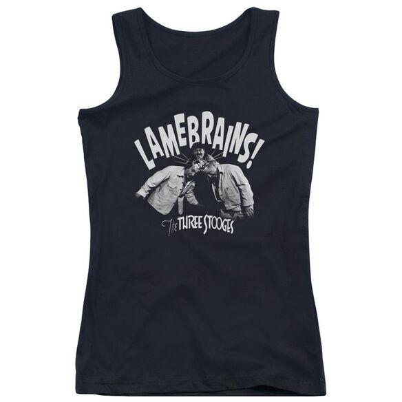 Three Stooges Lamebrains Juniors Tank Top