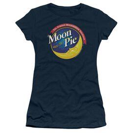 Moon Pie Current Logo Short Sleeve Junior Sheer T-Shirt