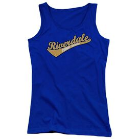 Archie Comics Riverdale High School Juniors Tank Top Royal