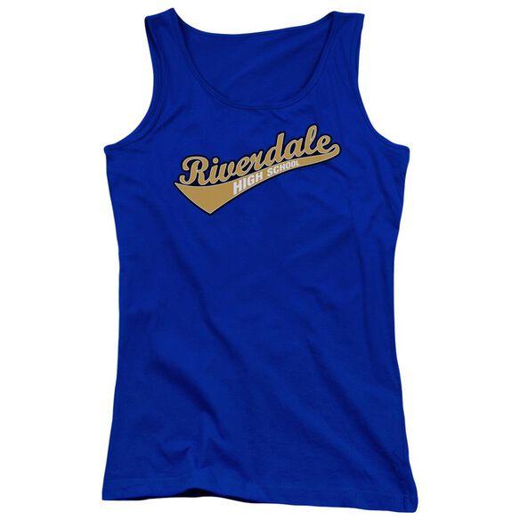 Archie Comics Riverdale High School Juniors Tank Top Royal