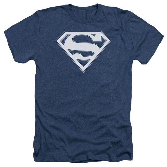 Superman & White Shield Adult Heather