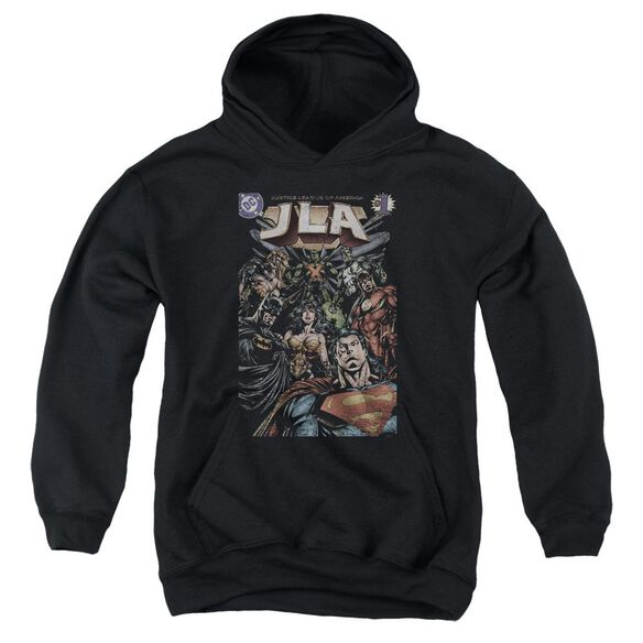 Jla #1 Cover Youth Pull Over Hoodie