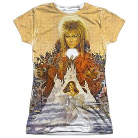 Labyrinth Cover Art Short Sleeve Junior Poly Crew T-Shirt