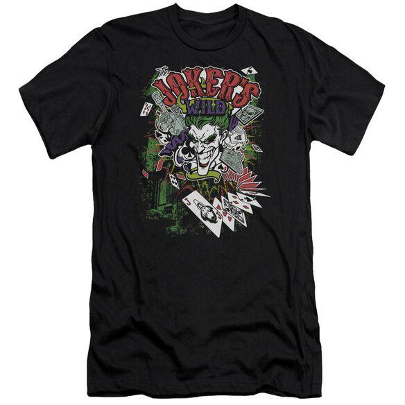 BATMAN JOKERS WILD - S/S ADULT 30/1 - BLACK T-Shirt