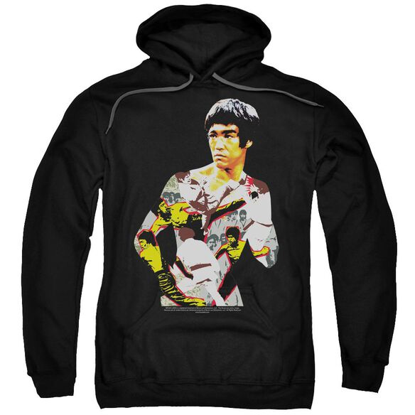 Bruce Lee Body Of Action Adult Pull Over Hoodie Black