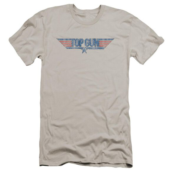 Top Gun 8 Bit Logo Premuim Canvas Adult Slim Fit