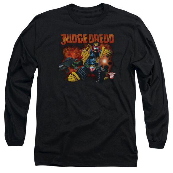 Judge Dredd Through Fire Long Sleeve Adult T-Shirt