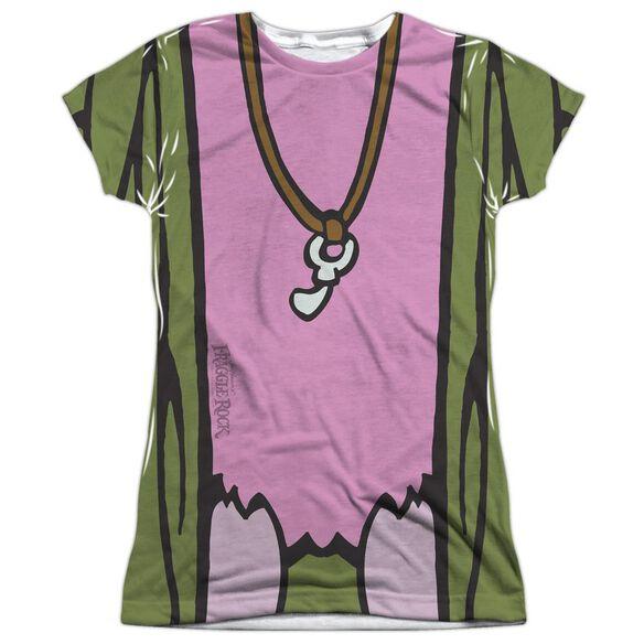 Fraggle Rock Mokey Uniform Short Sleeve Junior Poly Crew T-Shirt