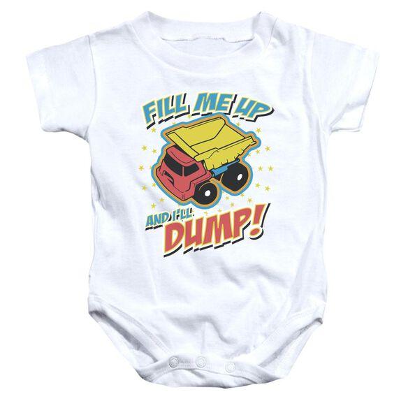 Dumper Infant Snapsuit White Sm