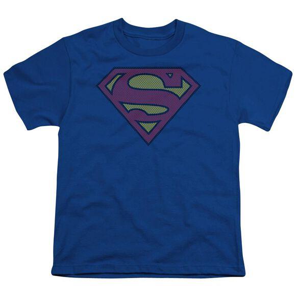 SUPERMAN LITTLE LOGOS - S/S YOUTH 18/1 - ROYAL BLUE T-Shirt