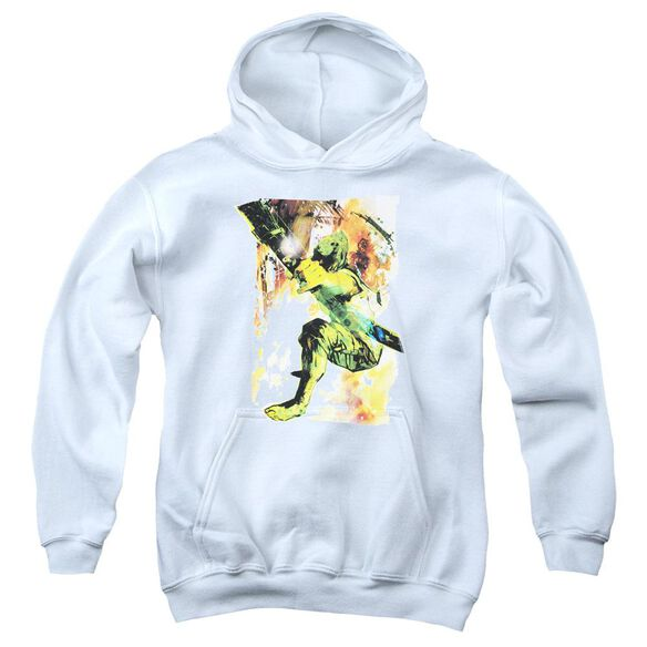 Jla Painted Archer Youth Pull Over Hoodie