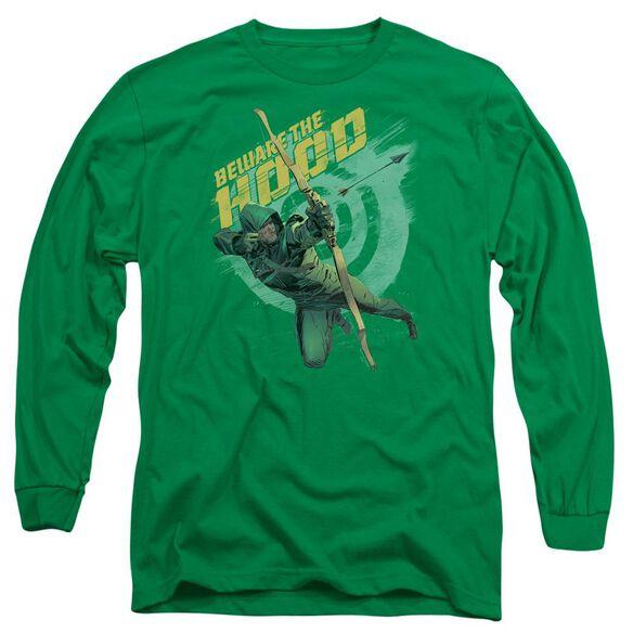 Arrow Beware Long Sleeve Adult Kelly T-Shirt