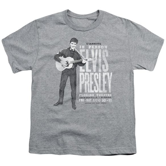 Elvis In Person Short Sleeve Youth Athletic T-Shirt