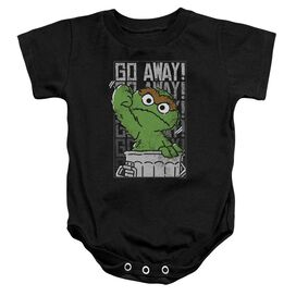 Sesame Street Go Away Infant Snapsuit Black