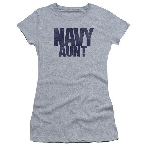 Navy Aunt Short Sleeve Junior Sheer Athletic T-Shirt