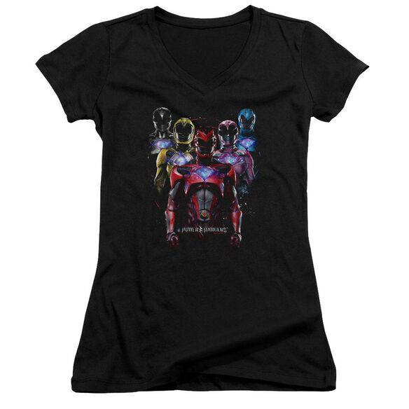 Power Rangers Team Of Rangers Junior V Neck T-Shirt