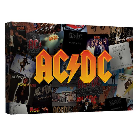Acdc Albums Canvas Wall Art With Back Board