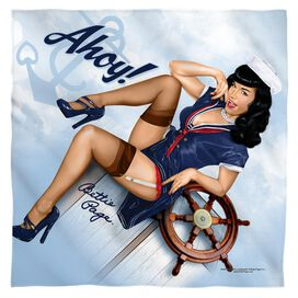 Bettie Page Ahoy Bandana White