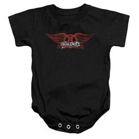 Aerosmith Winged Logo Infant Snapsuit Black