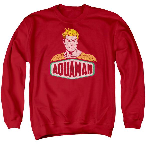 Dco Aquaman Sign Adult Crewneck Sweatshirt