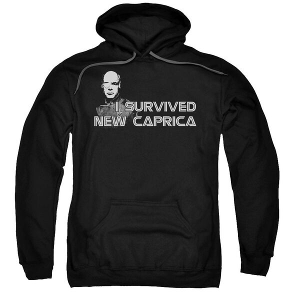 Bsg I Survived New Caprica Adult Pull Over Hoodie Black