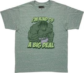 Incredible Hulk Big Deal Heathered Green T-Shirt